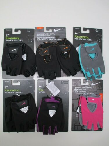 Nike women's fundamental training workout, fitness gloves gray or pink/gray