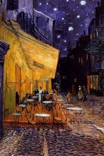 Cafe Terrace at Night Vincent Van Gogh Poster Art Print 24x36 inch