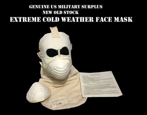 USMC ARMY EXTREME COLD WEATHER FACE MASK & 2 FILTERS US MILITARY SURPLUS GEAR