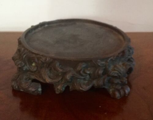 Antique French Bronze Base Plateau for Lamp or Chinese Kangxi Vase Display Stand