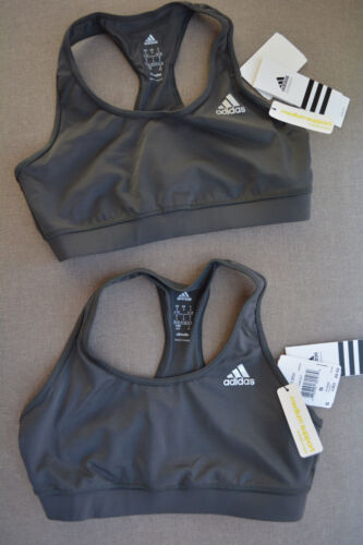 (2-PACK) Adidas Climalite Grey Sports Bra (Non padded)
