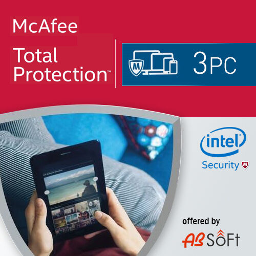 McAfee Total Protection 2020 3 PC 1 Year License Antivirus 2019