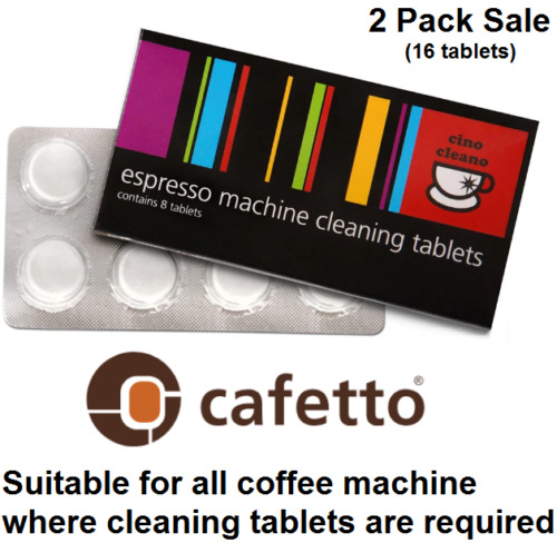 2x BREVILLE Espresso Coffee Machine Cleaning Tablets Cleaner Cafetto Cino Cleano