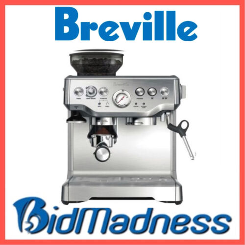 BREVILLE BES870BSS the BARISTA EXPRESS™ COFFEE MACHINE  2 LITRE    2 YRS WNTY <br/> ALSO AVAIL in BLACK. EXTENDED 1YR WARRANTY. 2 YRS total