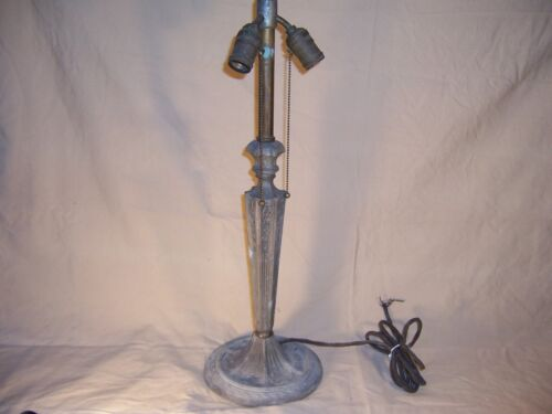 Antique Spelter table Lamp for Slag Glass Shade? Great Vintage Decor