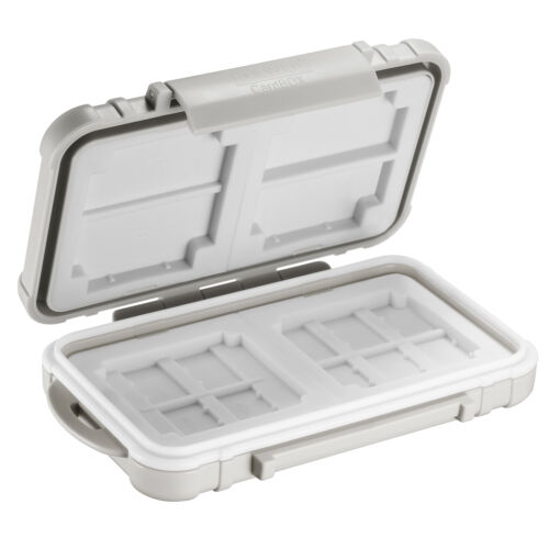 Neewer 14 Slots Memory Card Case Holder, Waterproof Storage Cards Box-Grey
