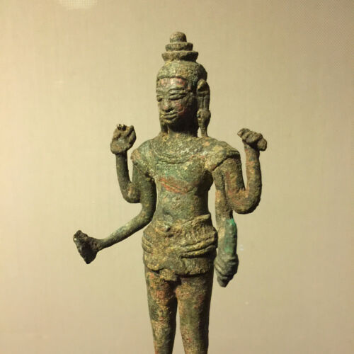 Authentic 12th Century A.D. Angkor Wat 4 armed Vishnu Statue