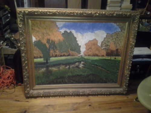 S. H. Hightower Original Hand Signed Painting On Board