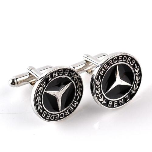 Vintage Cufflinks Cuff Links for Men's Wedding Shirt Pair Gift Black Flat Round