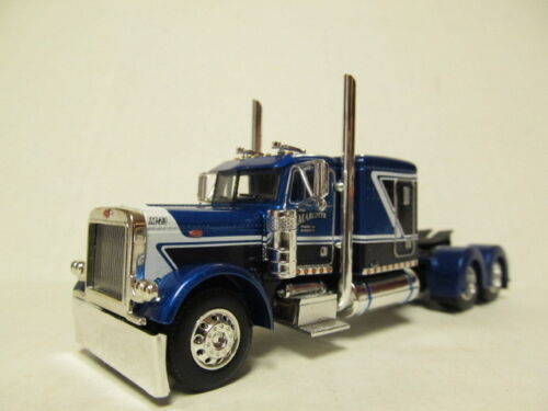 DCP 1/64 SCALE PETERBILT 379 BLUE/BLACK/WHITE PAUL MARCOTTE FARMS (TRACTOR ONLY)