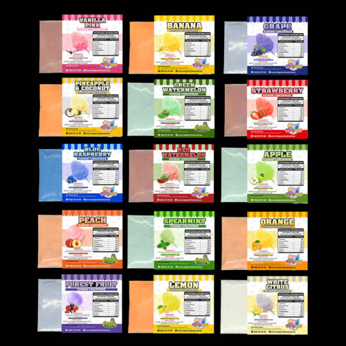 13 x Flavour Pack of Flossine (Concentrate) (7g) Cotton Candy Fairy-Floss Sugar