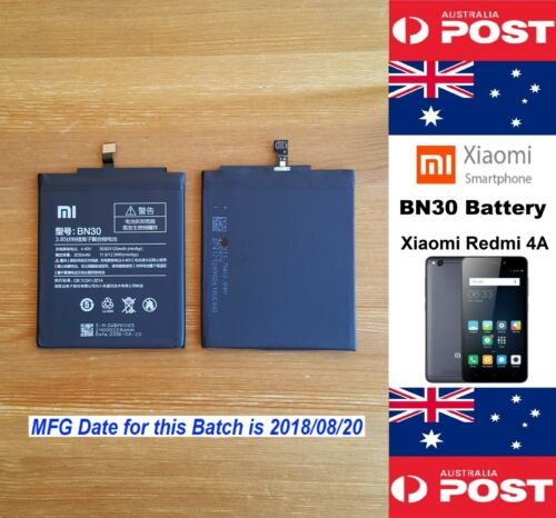 GENUINE Xiaomi Redmi 4A Battery BN30 3120mAh Good Quality - Local Seller