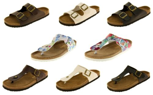 Womens COOLERS Faux Leather Casual Mules Sandals UK Size 4 5 6 7 8