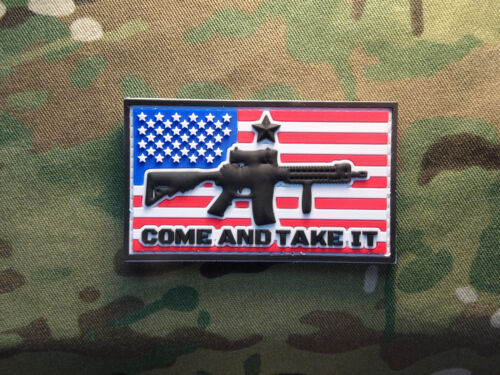 Hook//Loop Black Tactical AR-15 Come and Take It Tactical Military Morale Patch