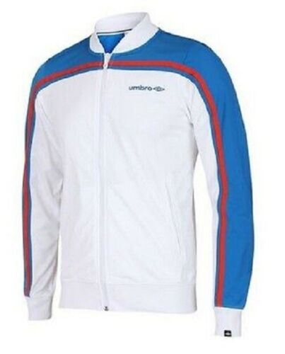 Umbro Mens Black AND  White  Polyester Retro Football Tracksuit Top Track Jacket