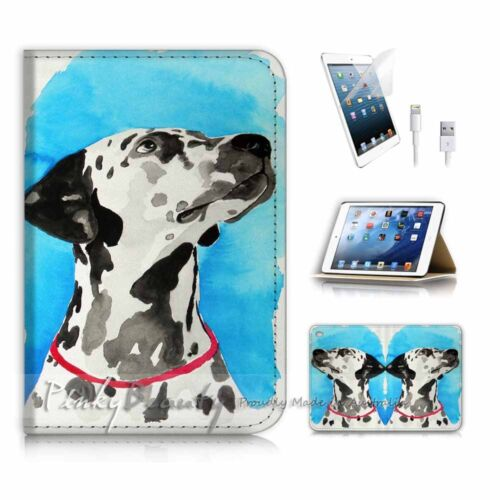 ( For iPad mini 4 ) Smart Cover & Base Case P3538 Dog Painting