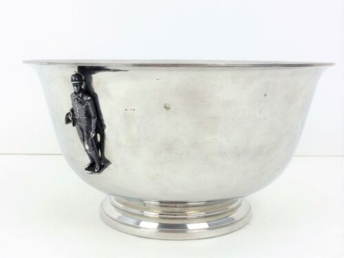 """Stieff Pewter Jockey Trophy Bowl"""