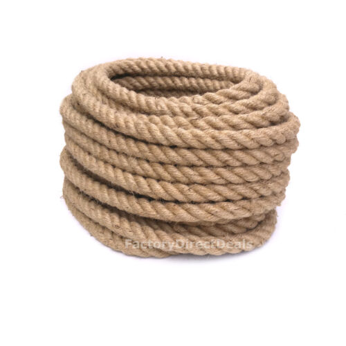 2x 40 Meters 32mm Thick Natural Jute Rope Twisted Decking Cord Garden Boating