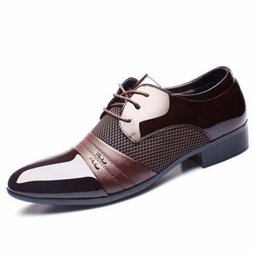 2017 Men's Dress Formal Shoes Business Dress Casual Leather Lace up Loafers New