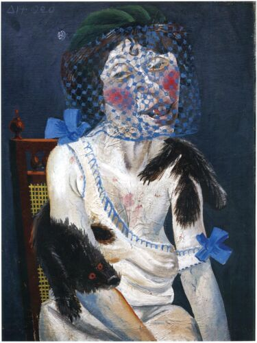 Otto Dix Prints: Lady with Mink and Veil: Fine Art Print