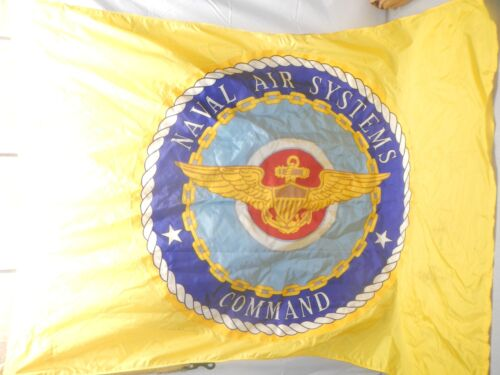 Vintage Yellow Naval Air Systems Command Flag Vietnam 1970 NOS Original PackageNavy - 66533