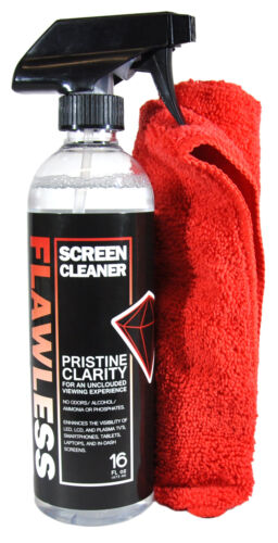 Flawless® Screen Cleaner for LED LCD Phone Tablet TV Monitor 16 oz w/ Microfiber