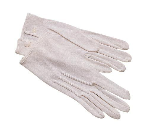 Rothco 4410 White Parade Gloves  100% Cotton with Snap - XSMALL to 2XL