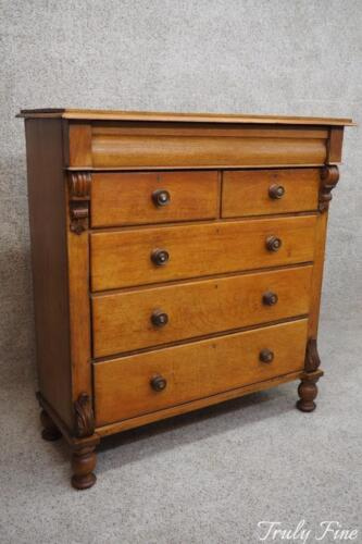 Early 19th Century European Highboy Chest of Drawers Dresser French Country