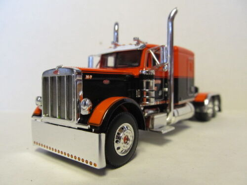 DCP 1/64 SCALE PETERBILT 379 BLACK & ORANGE PAUL MARCOTTE FARMS (TRACTOR ONLY)