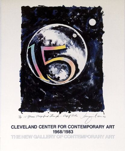 JAMES ROSENQUIST POSTER PLATE SIGNED CLEVELAND CENTER RETROSPECTIVE 1968-1983 FS