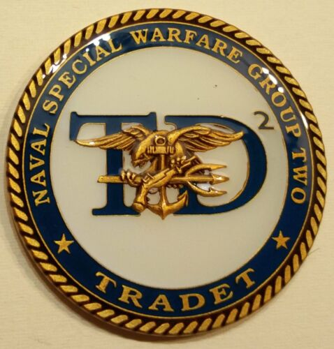 Naval Special Warfare Group Two Training DET TRADET2 SEAL Challenge Coin / 2Challenge Coins - 74710