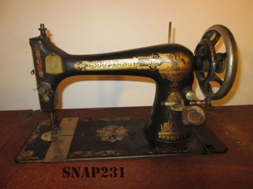 Antique 1903 Singer 27 Sphinx Treadle  Sewing Machine - Free Shipping