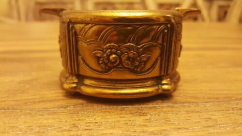 Antique JENNINGS BROS. ART DECO/ NOUVEAU Stamped Solid Brass Candle Holder