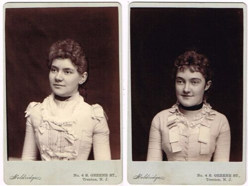 1880s Two Sisters with Smiling Eyes from Trenton NJ by Holdridge