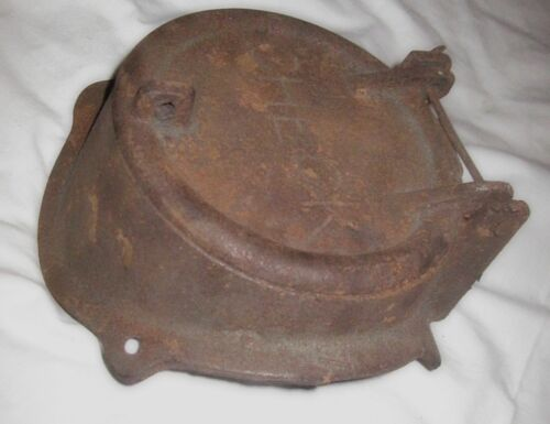 Antique cast iron Check Draft Door and housing Steampunk Parts Stove industrial