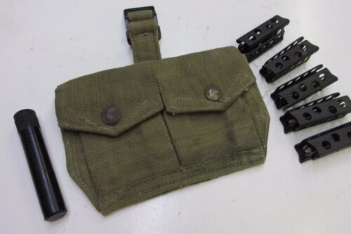 10 British Enfield Stripper Clips Pouch Oiler SMLE NO 1 MKIII NO 4 MKI 303 Cal Other Military Surplus - 588