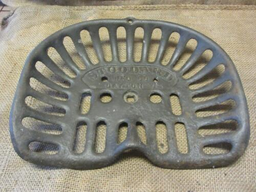 Vintage Stoddard Mfg Co Cast Iron Tractor Seat > Antique Farm Equipment 9718