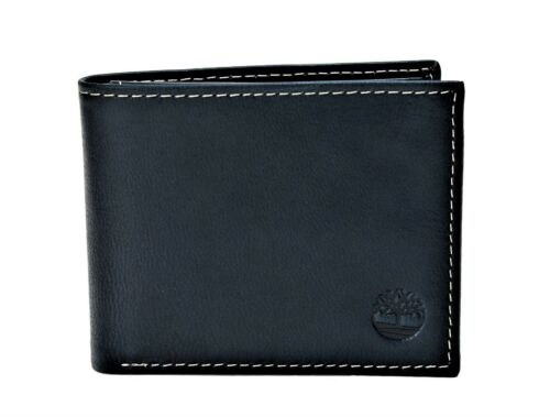 Timberland Men's Genuine Leather Cloudy Passcase Wallet