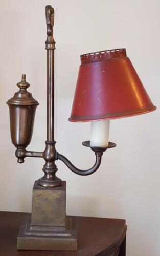 Vintage Metal One Sided Reading Lamp - Bronze Base - GOOD WORKING CONDITION
