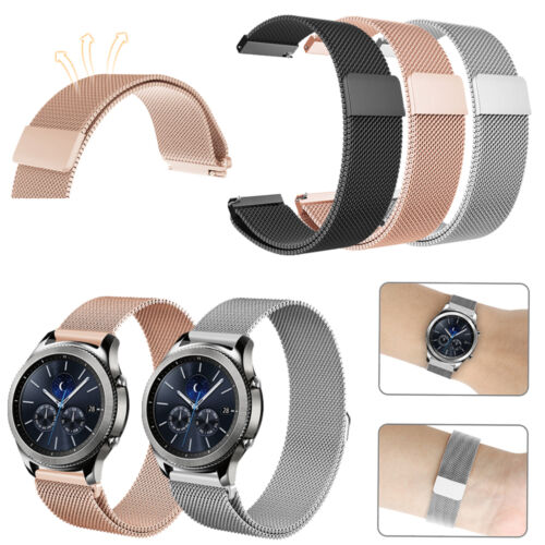 For Samsung Gear S3 Classic / Frontier Smart Watch Band Wrist Strap Magnet Lock