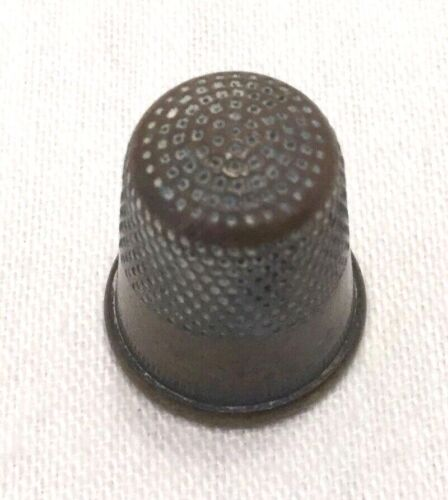 1892 Brass Child's Thimble-Sewing-Crafts-Antique                            #377