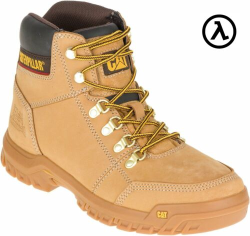 CAT OUTLINE STEEL TOE WORK MEN'S BOOTS - P90801 * ALL SIZES - NEW