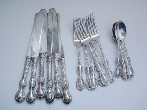 EHH Smith National Silverplate ROYAL OAK 18 Pcs for Six, Forks Knives Teaspoons