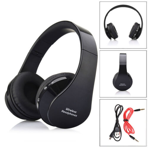 Foldable Wireless Bluetooth Headset Stereo Headphone For Samsung iPhone Black US