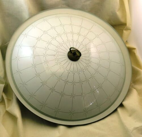 """Groovy Vintage Mid-Century Atomic Flyng Saucer Pull Down Ceiling Lamp Light 16 """""""