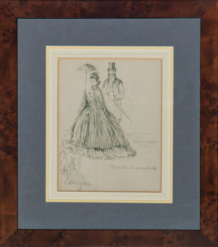 Pencil Drawing 'The Young Bride' 1950 by Vernon Ward (1905-1985)