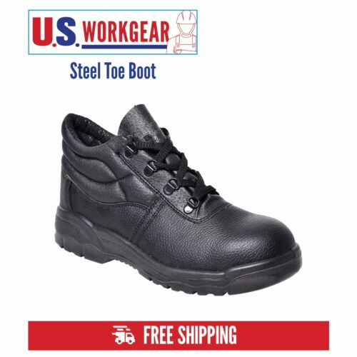 Portwest Work Boot Shoe Men Safety Leather Steel Toe Cap Midsole Size 5-14 FW10