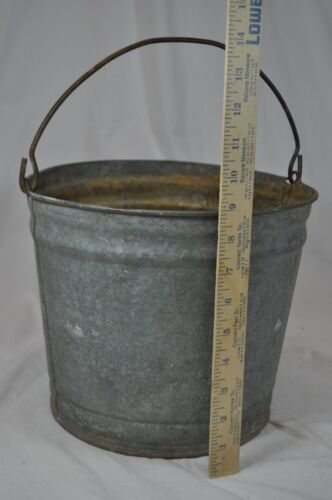 Vintage Galvanized Metal Fence Top Finial Fence Post: Galvanized Buckets