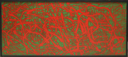 Red Movement 2003 Oil on Canvas by Christos Angelakis w/ Brice Marden