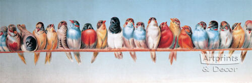 The Bird Perch by Hector Giacomelli (Art Print of Vintage Art)